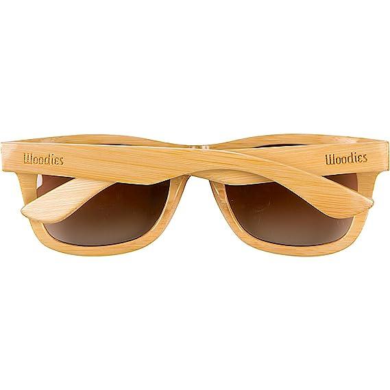 f0ab9709caf Amazon.com  WOODIES Black Full Bamboo Wood Polarized Sunglasses  Clothing