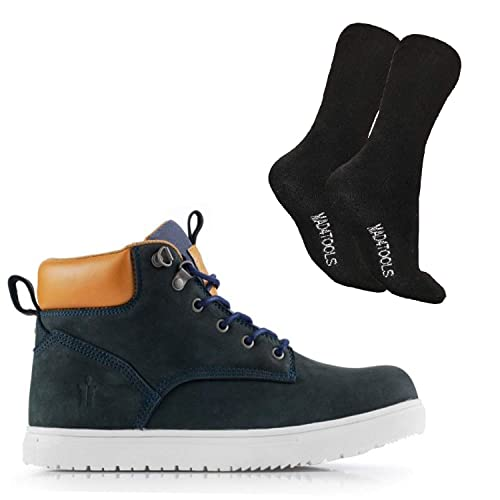c78df1e5205 Scruffs Mistral Safety Boots & mad4tools Boot Socks (12) Navy Blue ...