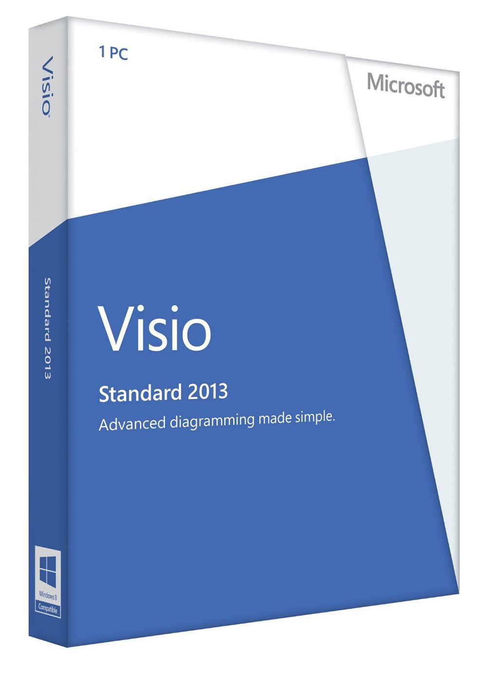 visio std 2013  Amazon.com: Microsoft Visio Standard 2013 Key Card (No Disc): Software