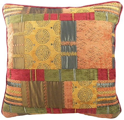 Evans Lichfield Marruecos color marrón Patchwork Cojín 22 ...