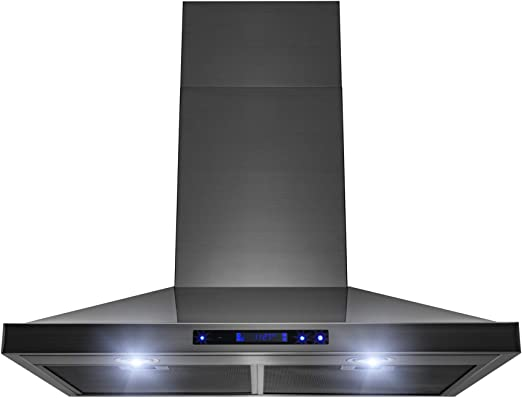 """30/"""" Wall Mount Stainless Steel Touch Panel Kitchen Range Hood Cooking Fan"""