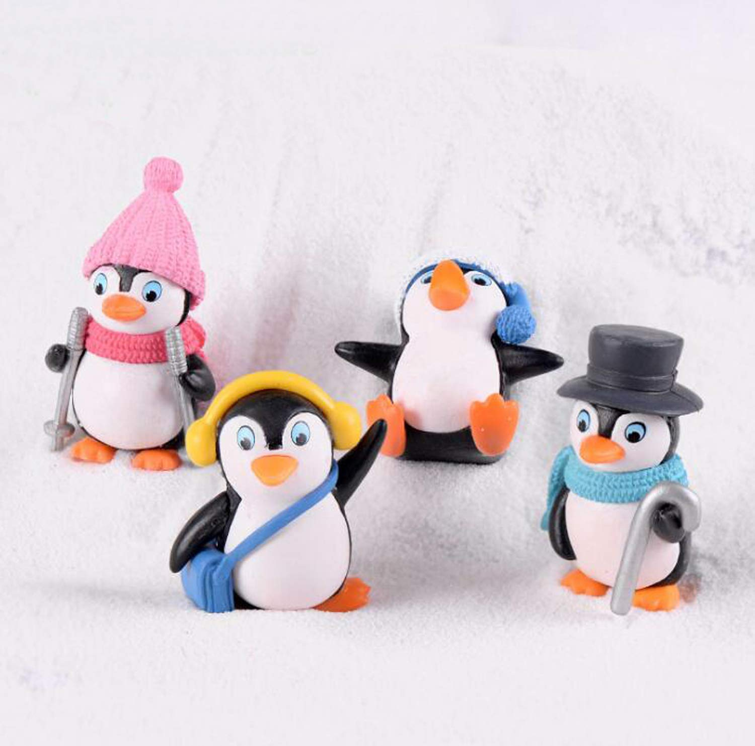 Smilesky Penguin Figure Animal DIY Toys Home Fairy Garden Office Decorations Dolls & Accessories Pack of 4 Toys & Games