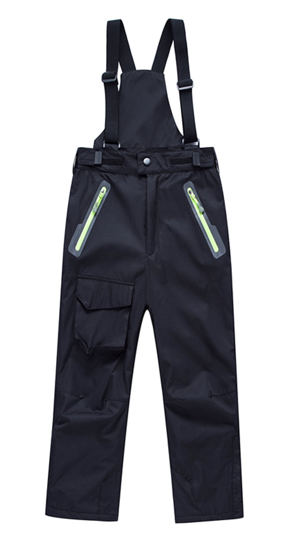 LANBAOSI Boys Girls Thick Fleece Lining Windproof Insulated Bib Overalls Snow Pants