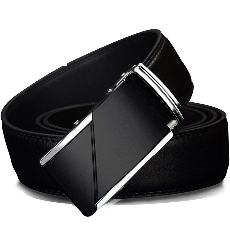 Genuine Leather Belts Men Male Brand Automatic Buckle Belt