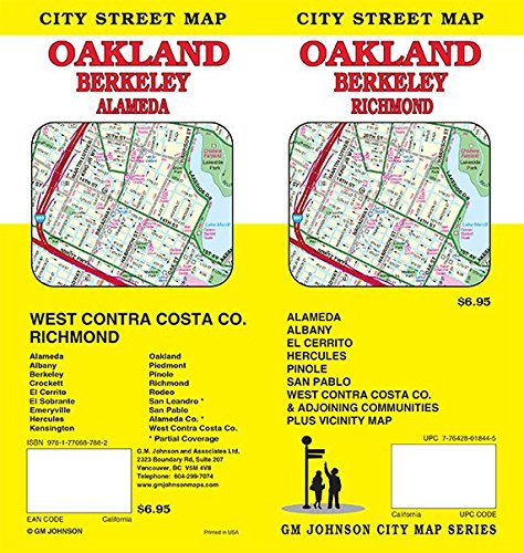Oakland / Berkeley / West Contra Costa, California Street Map