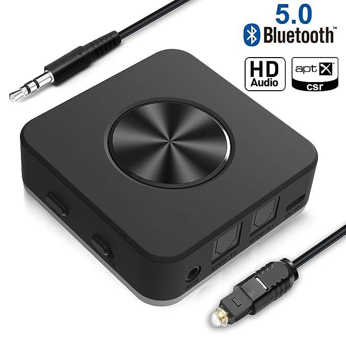 Transmisor y Receptor Bluetooth V5.0 Adaptador inalámbrico ...