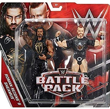 WWE Pack de Lucha Serie 43.5 Figuras de Acción - Roman Reigns & Sheamus Lleva Camiseta: Amazon.es: Juguetes y juegos