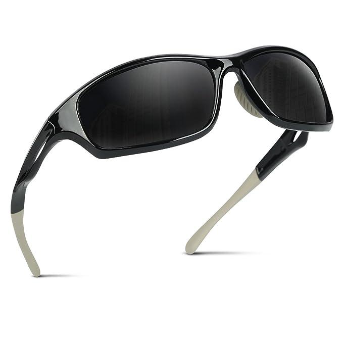 Occffy Polarisierte Sportbrille Sonnenbrille Fahrradbrille mit UV400 Schutz für Herren Autofahren Laufen Radfahren Angeln Gol