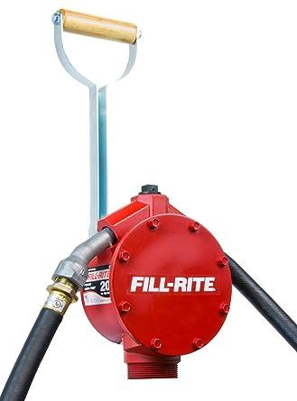 Fill-Rite FR152 Piston Hand Pump with Hose & Nozzle Spout