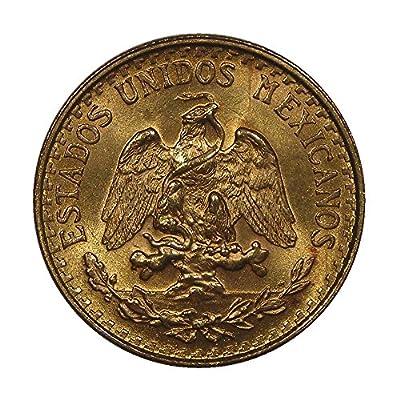 1945 Mexico 2 Pesos Gold Coin - Brilliant Uncirculated