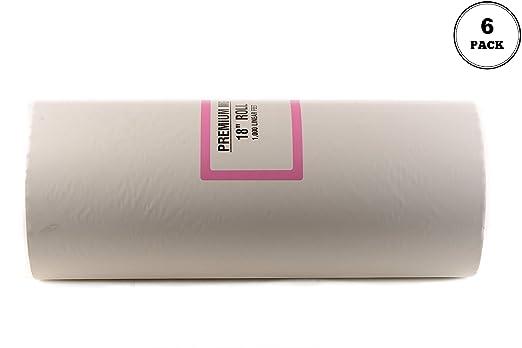6 unidades] papel de carnicero blanco 18 x 1000 pies – Rollo para ...