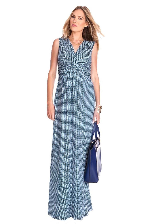 Seraphine Emory Maternity Nursing Maxi Dress - Blue/White Print - 10 ...
