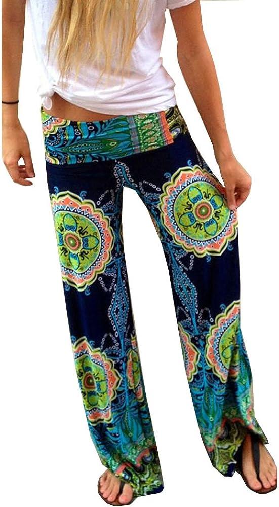 TM Dorzi Womens Smocked Waist Baggy Bohemian Harem Loose Leg Pants