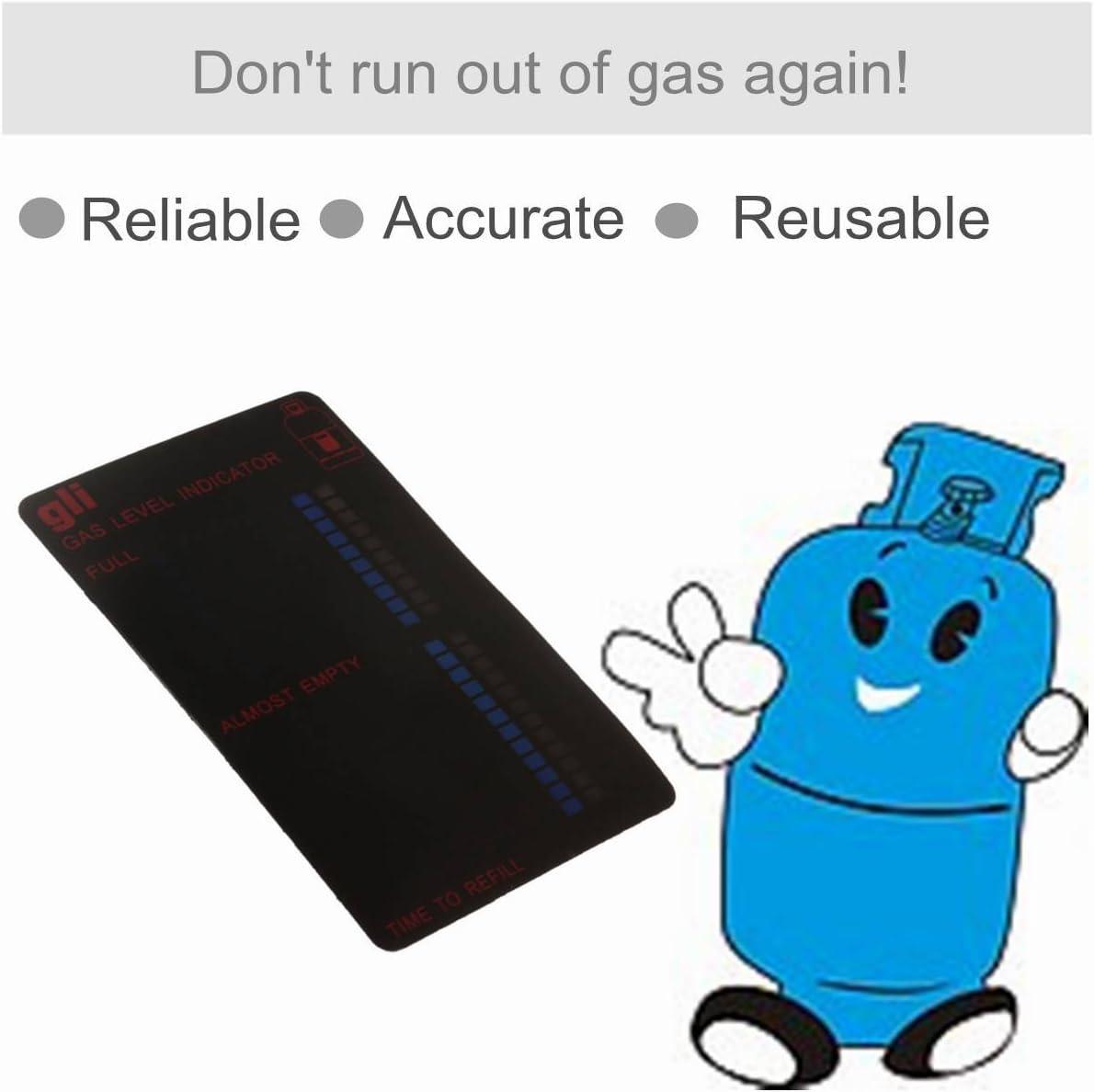 King Do Way Magnetic Gas Level Indicator Termómetro para gas camping gas indicador del estado de botellas de gas gas fuellstand Level Indicator ...