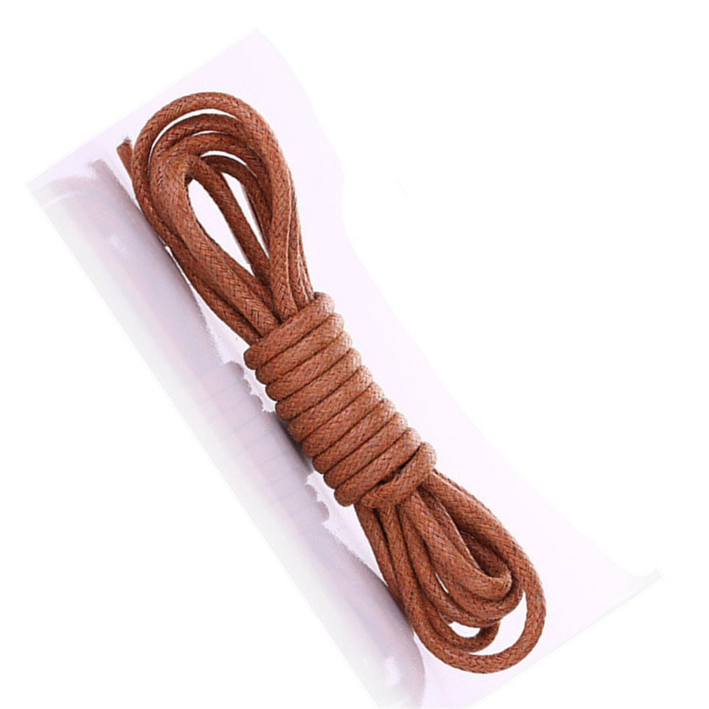1 Pair Waxing Shoelaces For Leather Shoes Waterproof Shoe Laces Snow Martin Boots brown 90cm