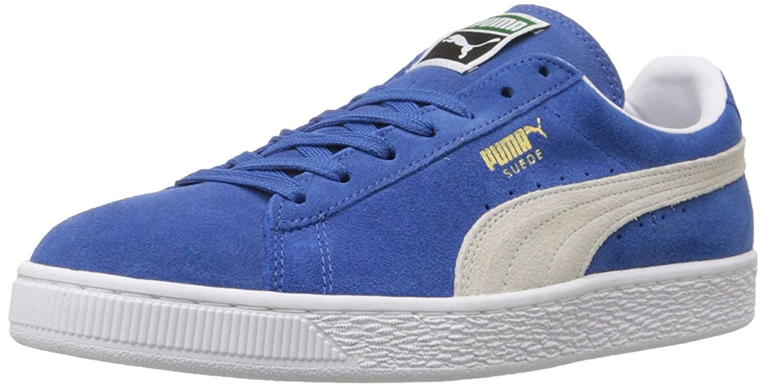 cheap for discount 51a1a 75845 PUMA Men's Suede Classic Fashion Sneakers (12 D(M) US / 46 EUR, Olympian  Blue/White)