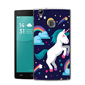 Funda Doogee X5 Max Pro unicornio arcoiris Mariposas Suave ...