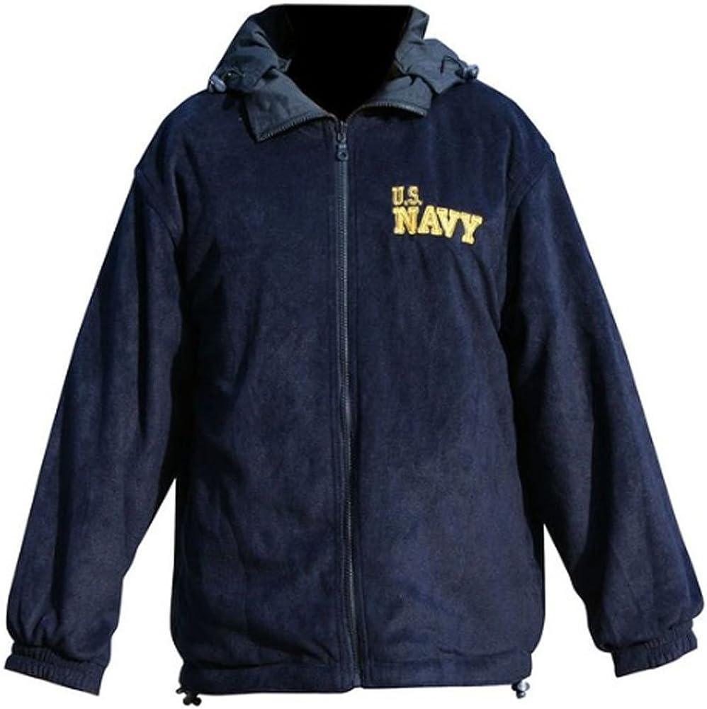 Mitchell Proffitt Mens US Navy Fleece Jacket Reversible