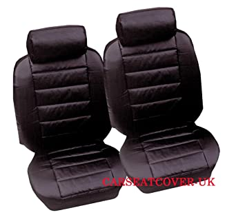 HEAVY DUTY GREY LEATHER LOOK SEAT COVERS FULL SET For PEUGEOT 108