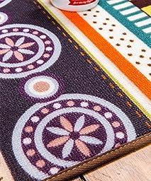 LELVA Bohemian Style Ethnic Customs Bedroom Antiskid Mats, Boho Colourful Kitchen Living Room Rug Floor Mats Floor Mats (40cm x 180cm)