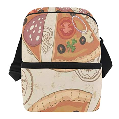 Bolsa de almuerzo con patrón delicioso con bolsa ...