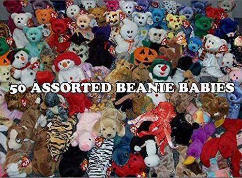 BEANIE BABIES 50 Ty Assorted Wholesale Lot. New with Tags! Perfect for Carnival Prizes or Goody Bags! from BEANIE BABIES