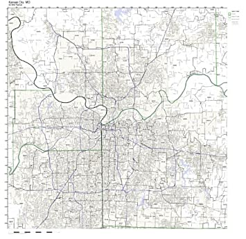Amazon.com: Kansas City, MO ZIP Code Map Not Laminated: Home & Kitchen