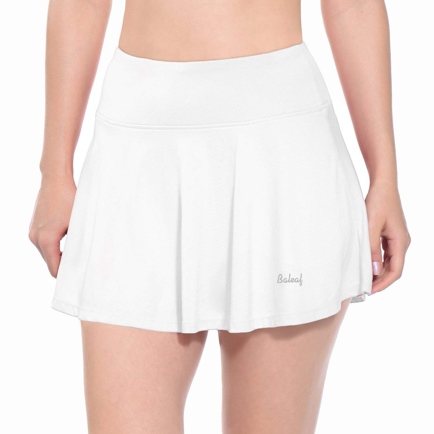 Baleaf Women's Athletic Golf Skirt Tennis Skort Pleated with Pockets White Size XL by Baleaf