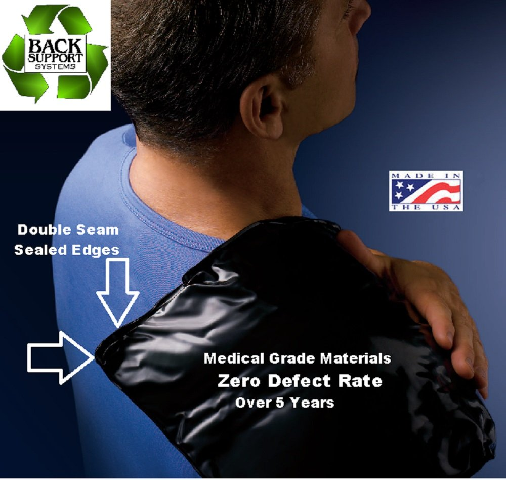 Professional Medical Grade Reusable Cold Ice Pack Wrap For Injuries, USA Made, Polyurethane Flexible Compress for Shoulder, Back, Knee, Neck & First Aid (7'' X 11'') 5 Year Guarantee, ZERO Defects!
