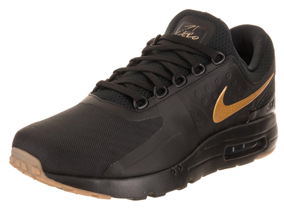 NIKE Men's Air Max Zero Essential Black/Metallic Gold Running Shoe 8 Men US