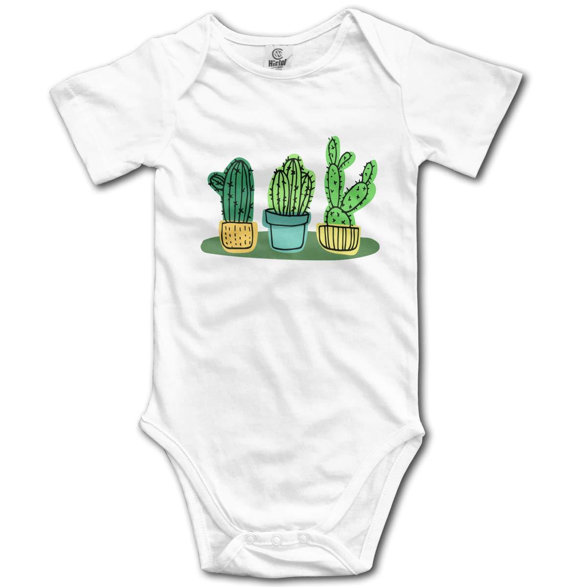 Cacti Cactus Unisex Solid Baby 100/% Organic Cotton Romper Jumpsuit 0-24M