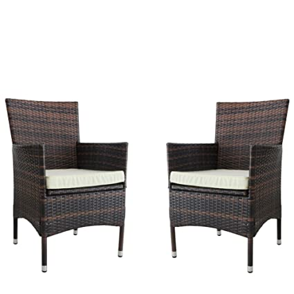 Amazon Com Kosycosy 2 Pieces Patio Porch Furniture Set Pe Rattan
