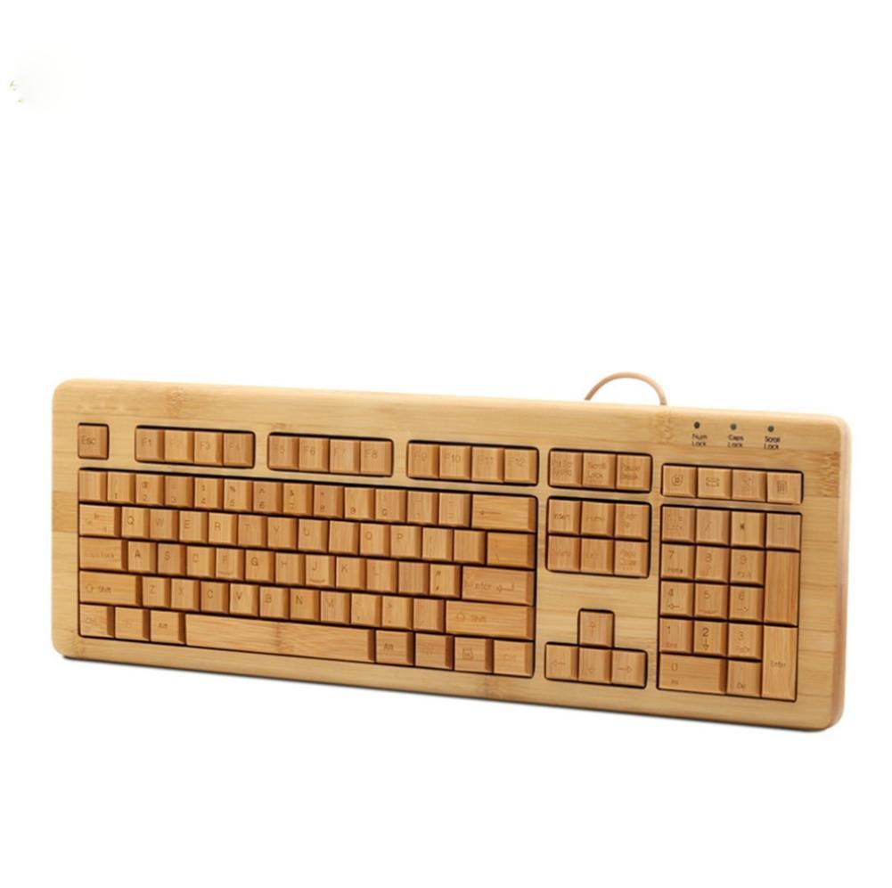 Bambú teclado interfaz USB