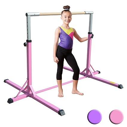 0e603034953b XTEK Gym Pro Gymnastics Bar - Adjustable Height Kip Bar with Added  Stability, Premium Gymnastics