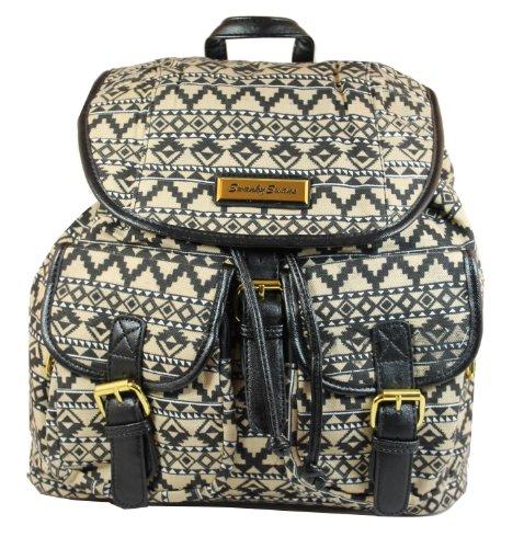 Rucksack Backpack Aztec Bag School Twin Print Pocket vqvxCFPw
