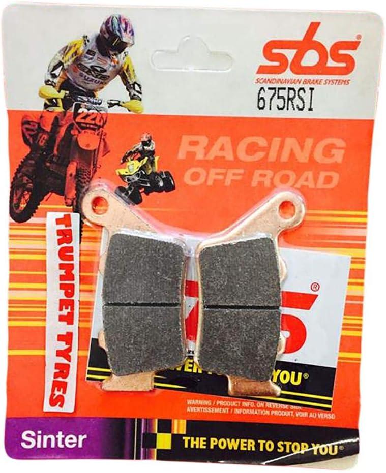 XTZ700 Tenere 19 2019 SBS Performance arri/ères Hors Route Racing Sfritt/é Qualit/é OE 675RSI Lot de Plaquettes de Frein fritt/ées pour Yamaha XTZ 700 Tenere