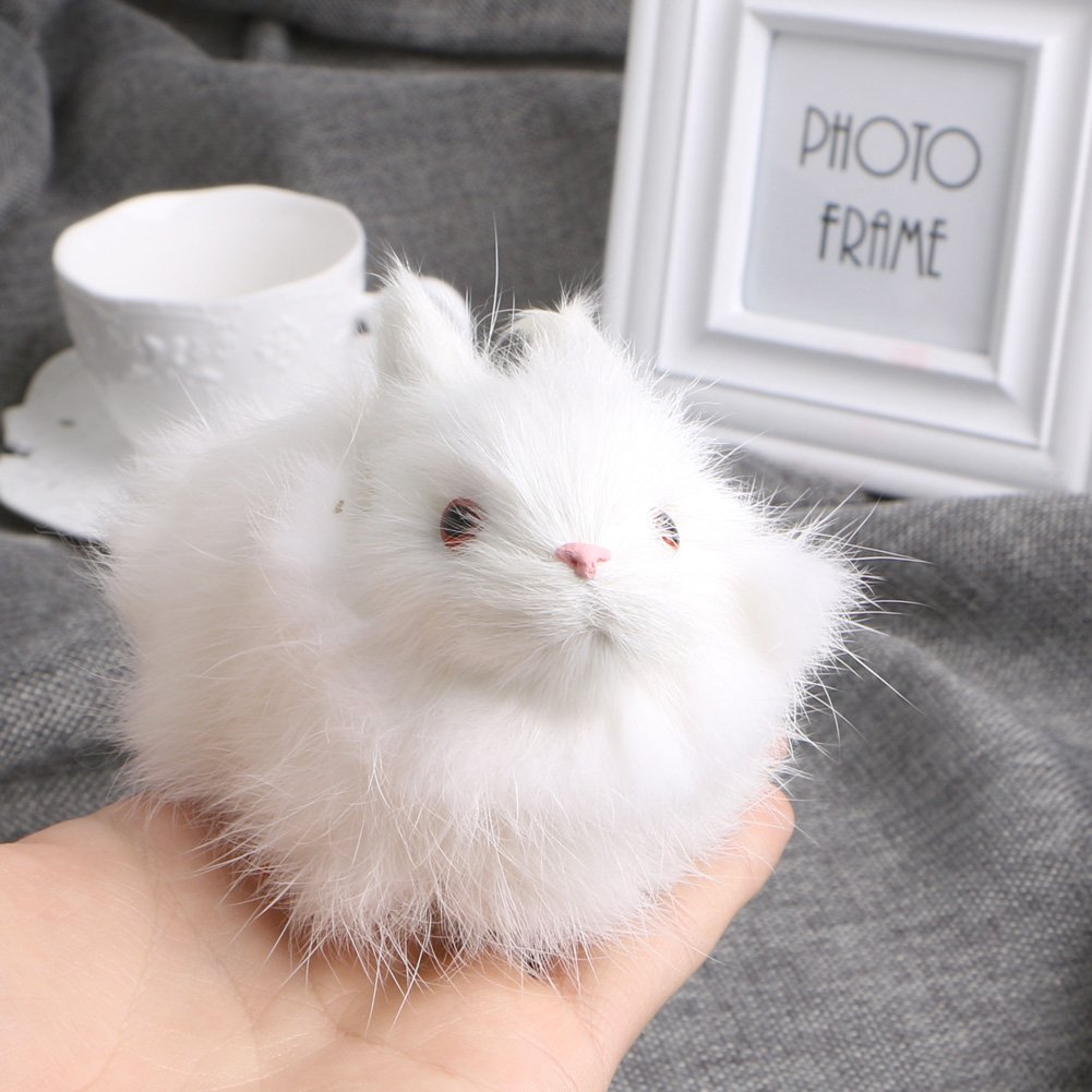 ZOOMY Conigli di Lepre in Cesto di Peluche Giocattoli Artigianali da Collezione Regalo per Bambini Bambini