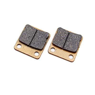 Rear Brake Pad Pads, PRO BAT, Disc Brake Pad Shoes For 50cc-250cc ATV Quad Go Kart TaoTao Roketa Sunl Kandi, Golden: Automotive