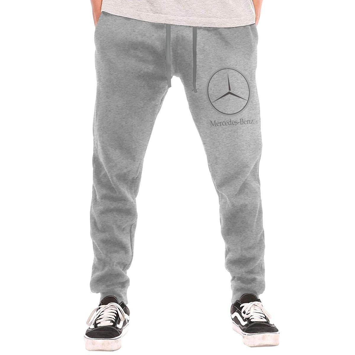 Kinggo Man Personalized Mercedes Benz Logo New with Pockets Casual Pant Black