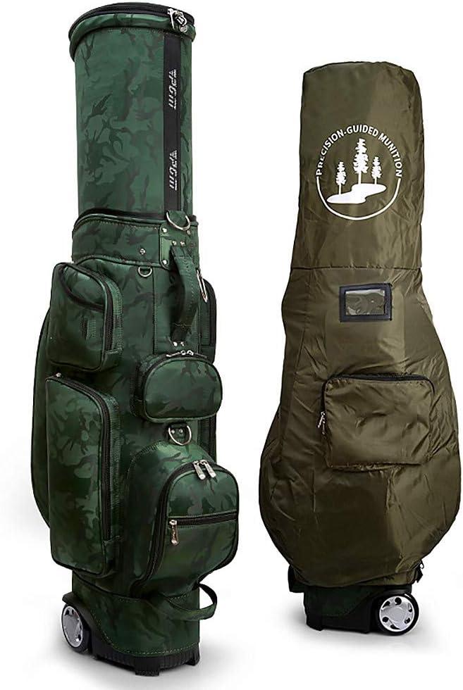 ゴルフカートバッグ、取り外し可能なレインフード付き、3.9 インチの増粘プーリー、49.61 * 16.93 * 9.06 インチフェアウェイゴルフスタンドバッグ B