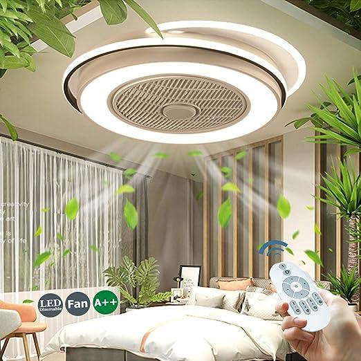 Ventilador De Techo 55W LED Luz De Ventilador Invisible Lámpara De ...