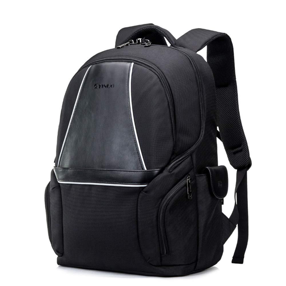 盗難防止屋外旅行コンピュータのバックパックの男性と女性の一眼レフカメラのバックパック大容量ノートブックバッグの動向  Black B07LD4D4RR