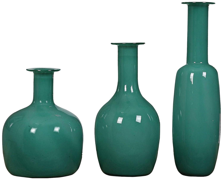 Uttermost 20017 Baram Turquoise Vases, Set of 3 B00XKRAMJ4