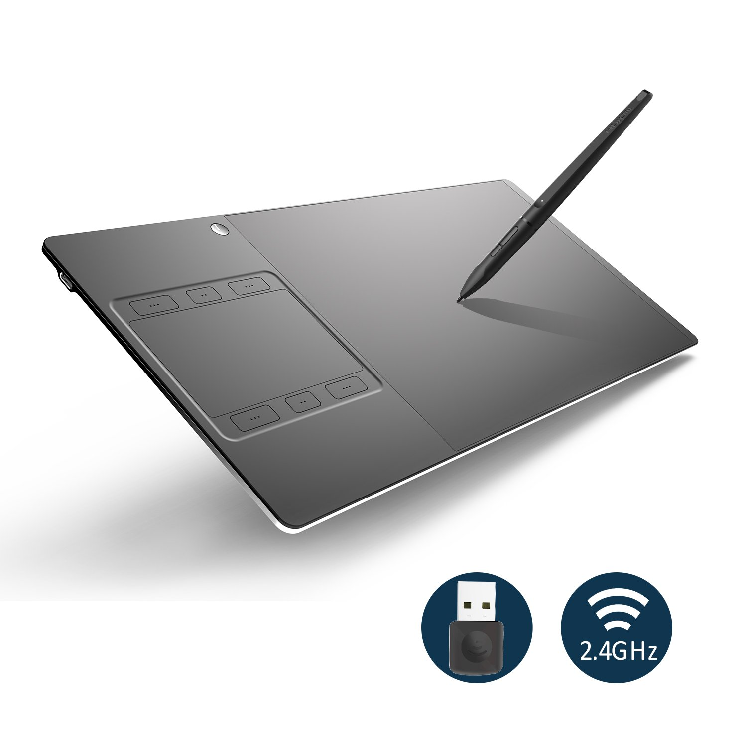 Huion INSPIROY G10T Wireless Digital Pen Tablet Graphics Drawing Tablet with 8192 Pressure Sensitivity Touch Function and Express Keys by Huion