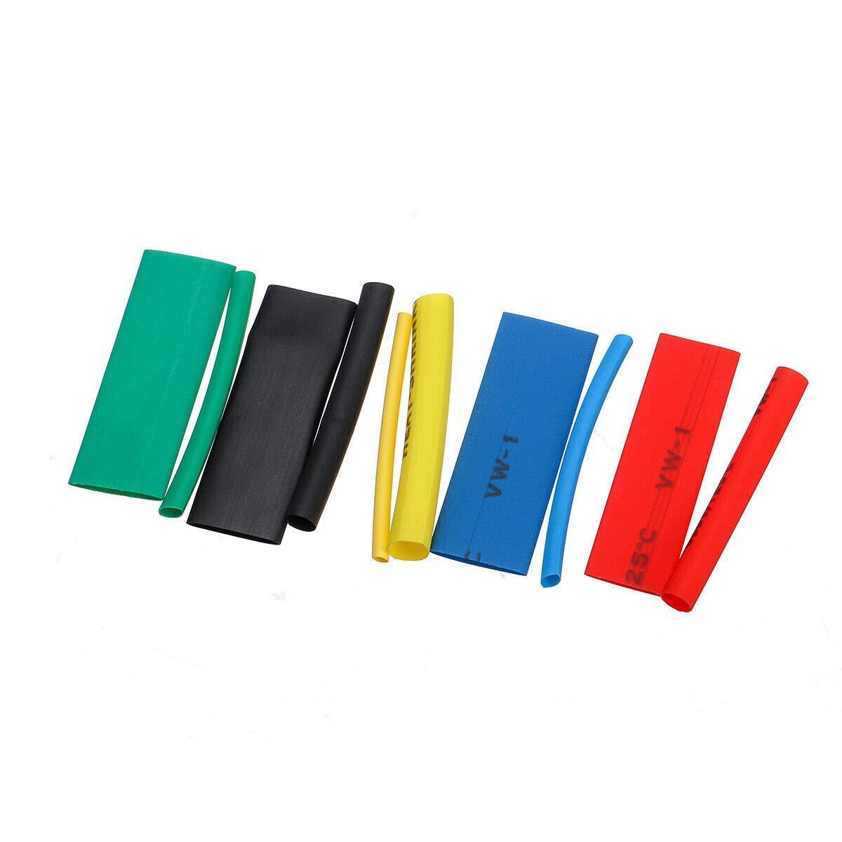Kit di tubi termorestringenti 2:1 isolamento elettrico termorestringente avvolgicavo in 5 colori in 12 misure