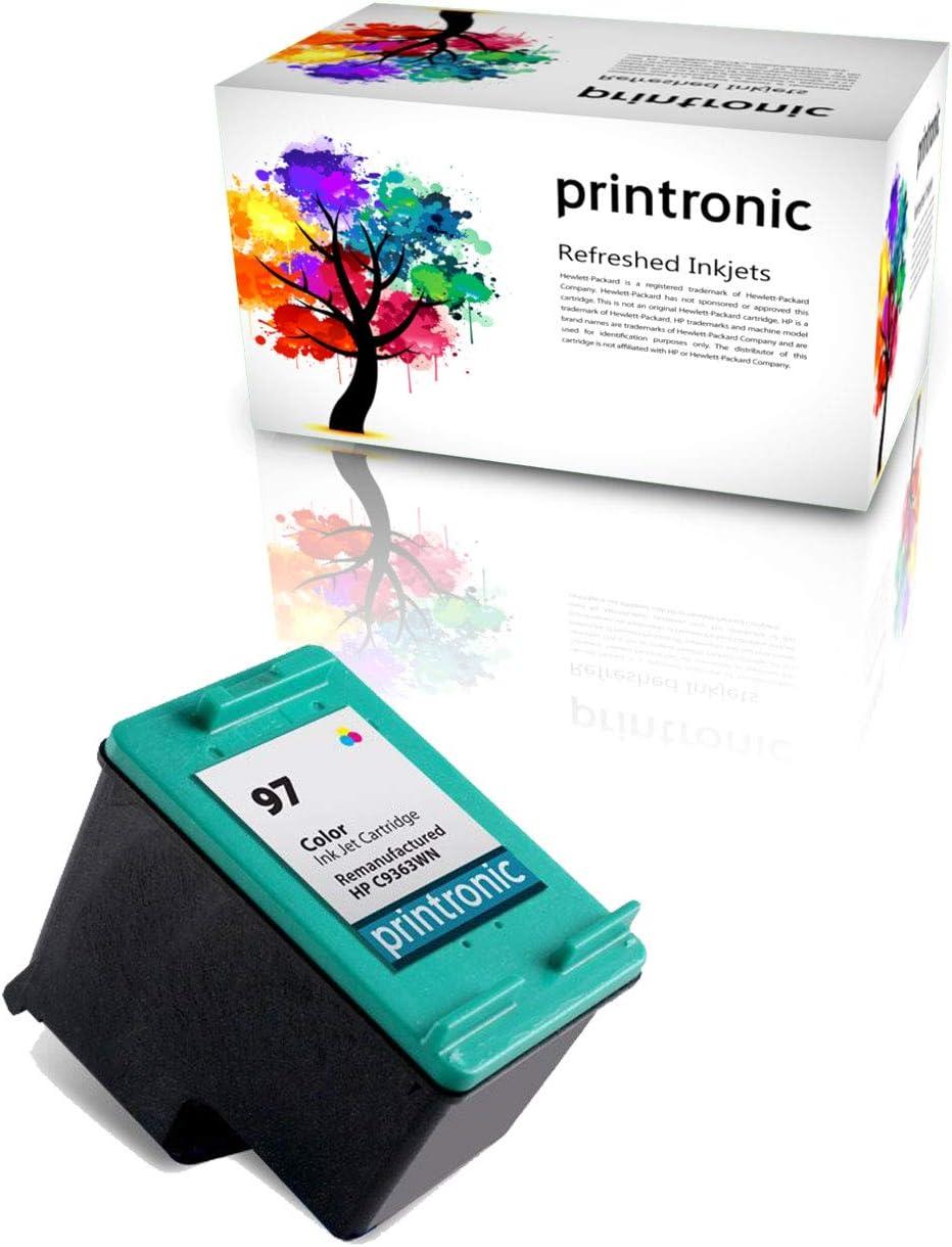 Printronic Remanufactured Ink Cartridge Replacement for HP 97 for Deskjet 460 D4155 5740 6520 6940 9800 Officjet 100 6210 7410 Photosmart 2610 D5060 PSC 1600 2355 (1 Color)