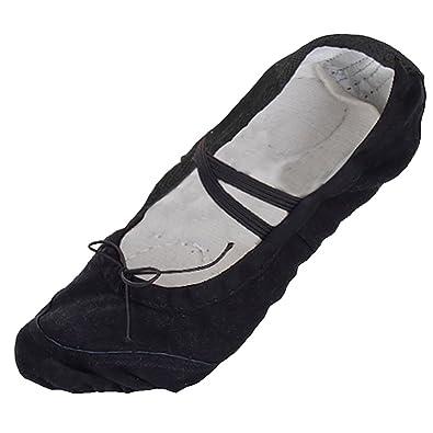 ab7cf2c9e3b9d Chaussures de Ballet Ballerines Chaussons en Toile pour Enfant Fille Garçon  15 2 3 cm