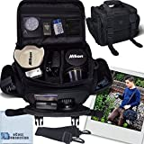 Deluxe Large Digital Camcorder / Video Padded Carrying Bag / Case For Panasonic HDC-SD90, HDC-T750, HDC-SD800, HDC-TM300K, HDC-TM900 & More… + Microfiber Cloth