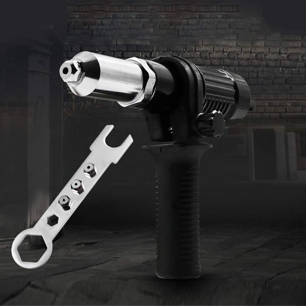Negro Kit de Herramientas de remachado para Insertar Tuercas de Mano Adaptador de Remachadora de Taladro el/éctrico Tama/ño Libre Dyda6 Pistola Remachadora inal/ámbrica