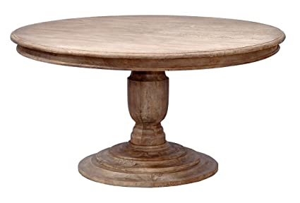 Amazoncom Casual Hand Crafted Pedestal Dining Table With Solid